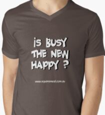 Busy not Happy light Men's V-Neck T-Shirt
