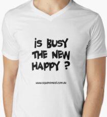 Busy not happy dark Men's V-Neck T-Shirt