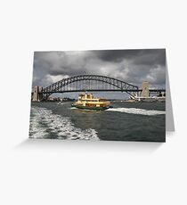 boat and habour Greeting Card