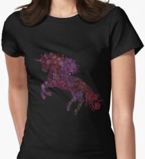 Psychedelic Unicorn Womens Fitted T-Shirt
