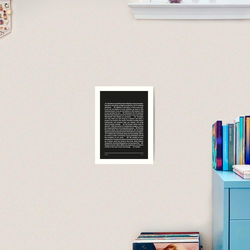 Manifesto - Grey Art Print
