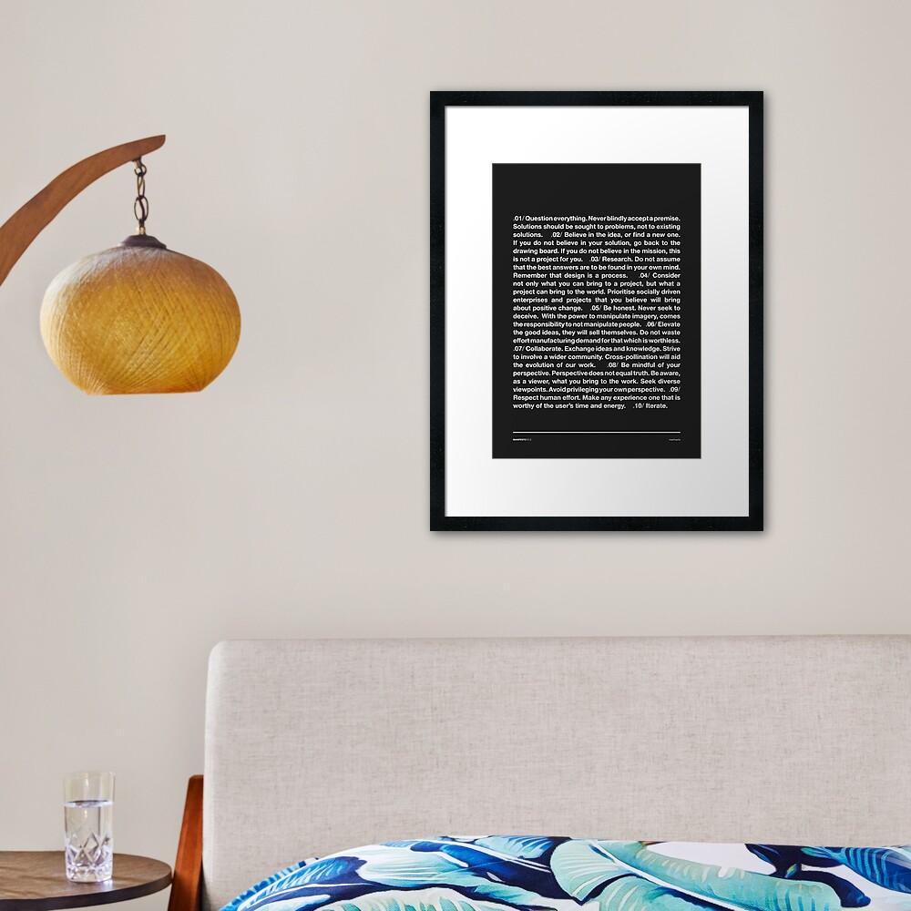 Manifesto - Grey Framed Art Print