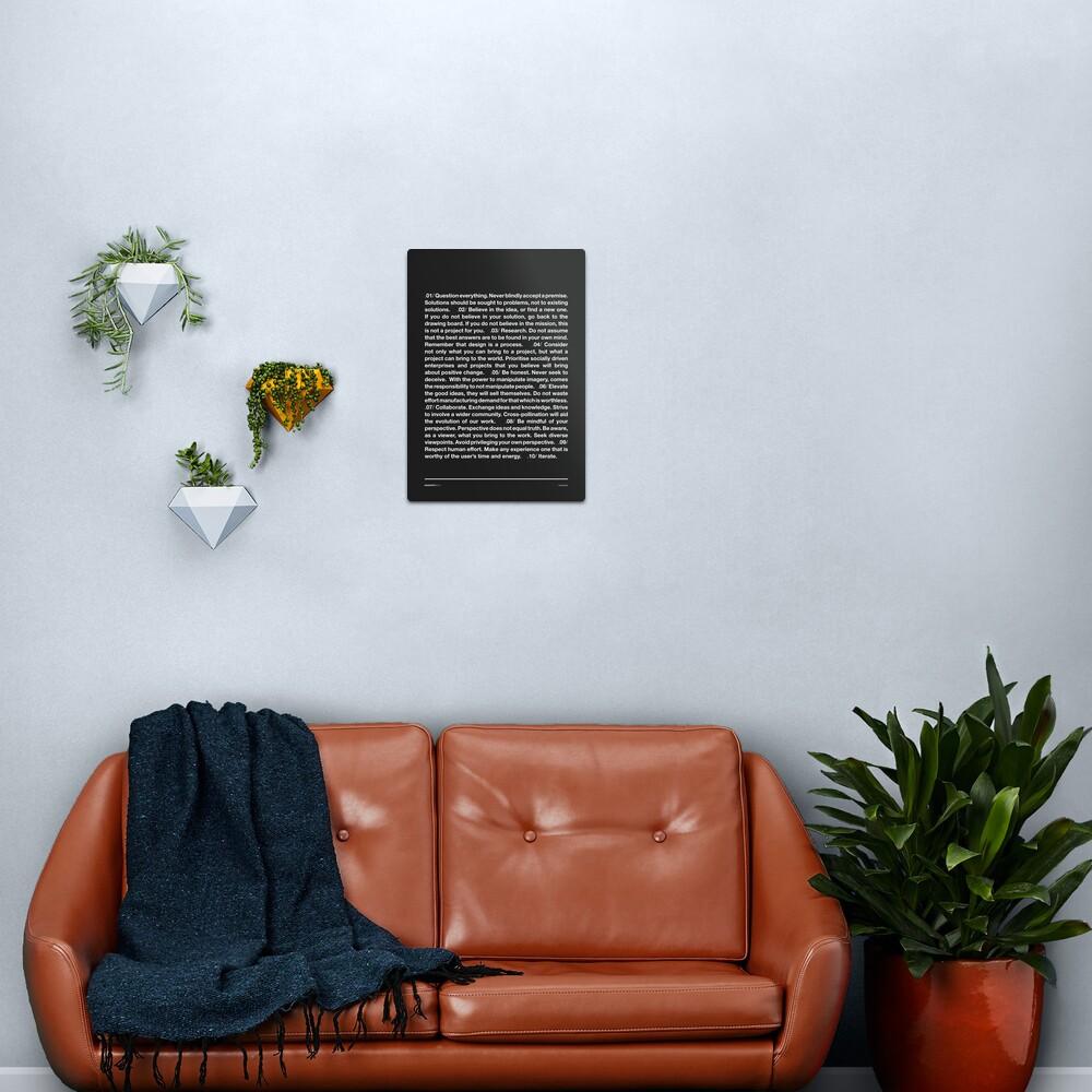 Manifesto - Grey Metal Print