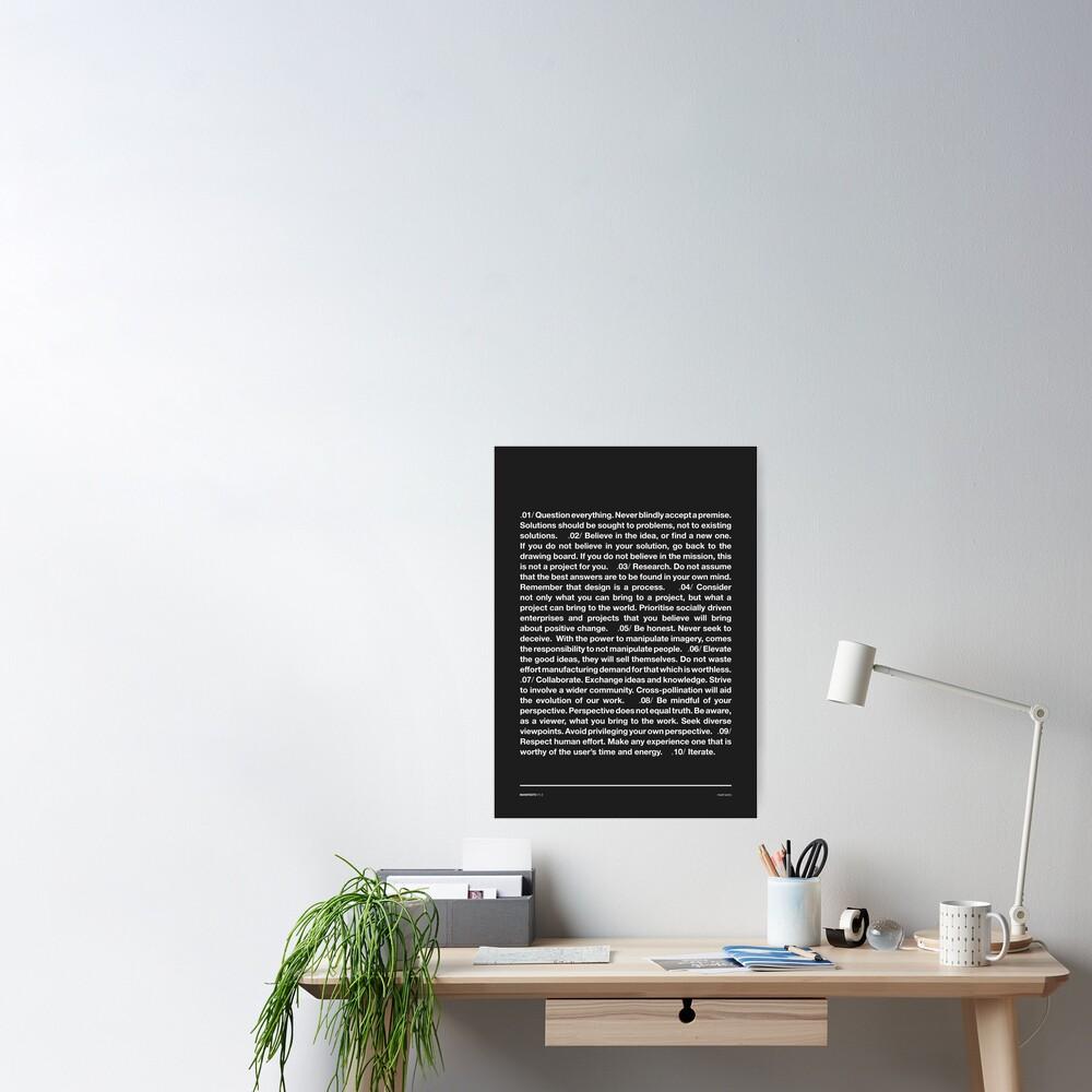 Manifesto - Grey Poster