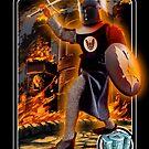 Mego Black Knight Trading Card Art by MegoMuseum