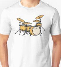 Pixel Custom Jazz Drums Unisex T-Shirt