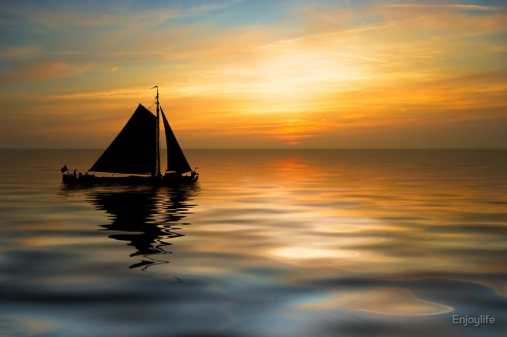 Sailing and sunset by Enjoylife