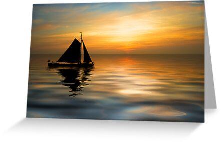 Sailing and sunset by Enjoylife