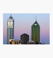 Perth City Towers At Sunset  Photographic Print