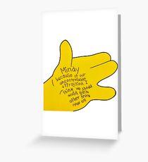 simpsons Greeting Card