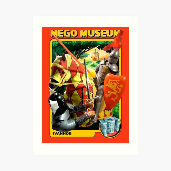 Mego Ivanho Artwork SuperKnights MegoMuseum Art Print