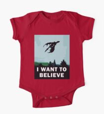 I Want To Believe... In Dragons  One Piece - Short Sleeve