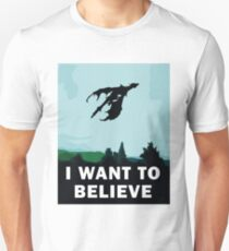 I Want To Believe... In Dragons  T-Shirt