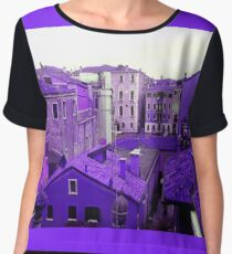 Venice purple rooftops Chiffon Top