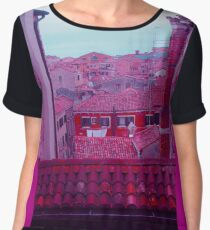 Venice red rooftops Chiffon Top