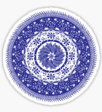 Blue and White Mandala  Sticker