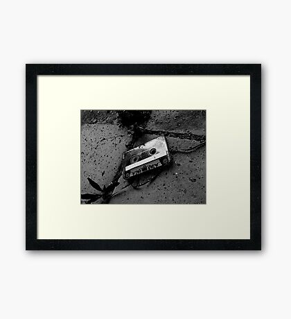 The lost tape Framed Print