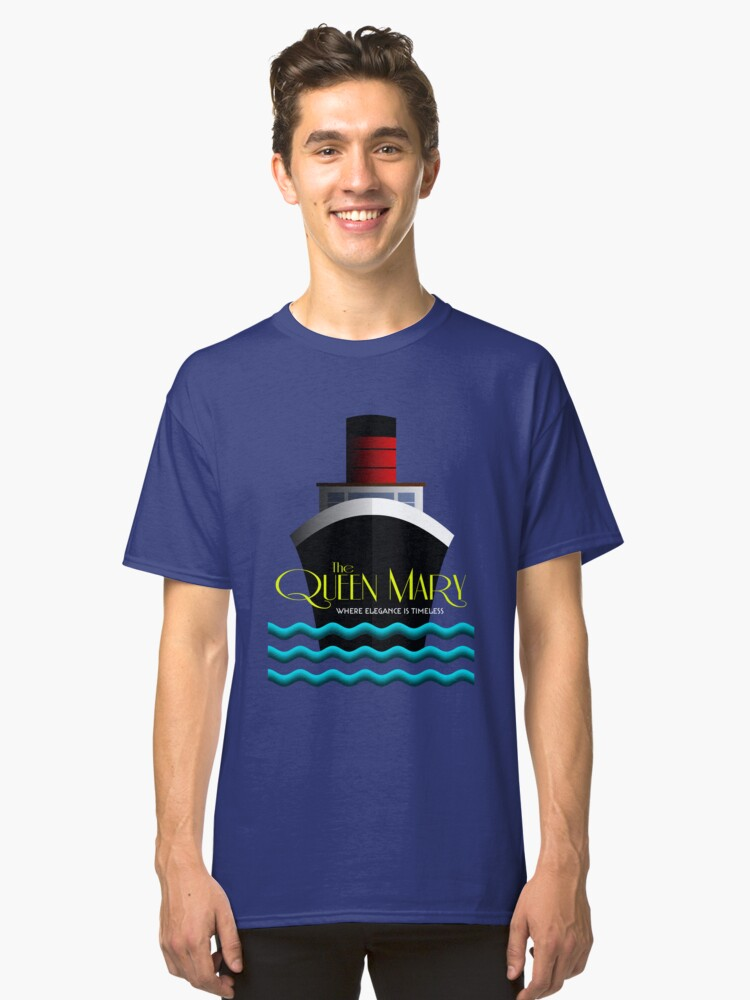 Alternate view of The Queen Mary - Where Elegance Is Timeless Classic T-Shirt
