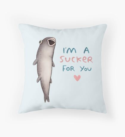 Suckerfish Throw Pillow