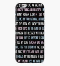 Lana Del Rey Lyrics Overload iPhone Case