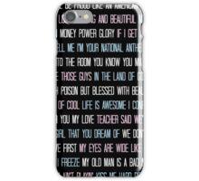Lana Del Rey Lyrics Overload iPhone Case/Skin