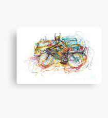 Bulls Biker Canvas Print