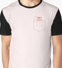 Red Pocket Tabby Graphic T-Shirt