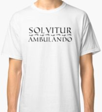 Solvitur Ambulando with footprints Classic T-Shirt