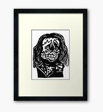 Skull rockstar Framed Print