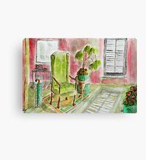 green pots Canvas Print