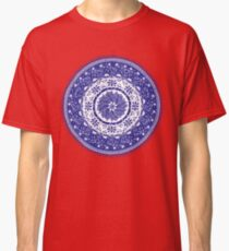 Blue and White Mandala  Classic T-Shirt