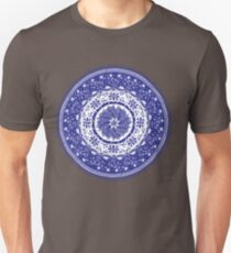 Blue and White Mandala  Unisex T-Shirt