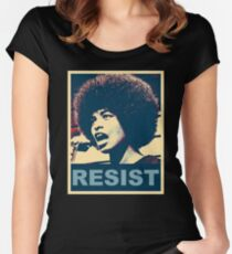 Angela -RESIST Women's Fitted Scoop T-Shirt