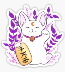 Plant Maneki Neko // White Sticker