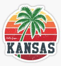Hello from Kansas Sticker