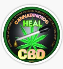 CBD Cannabinoids in Hemp oil Cures  learn truth about use of hemp oil to cure illness and pains. Sticker