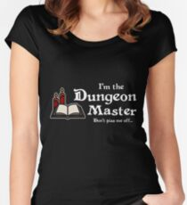 I'm the Dungeon Master (Dark) Women's Fitted Scoop T-Shirt