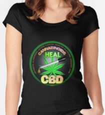 CBD Cannabinoids in Hemp oil Cures  learn truth about use of hemp oil to cure illness and pains. Women's Fitted Scoop T-Shirt