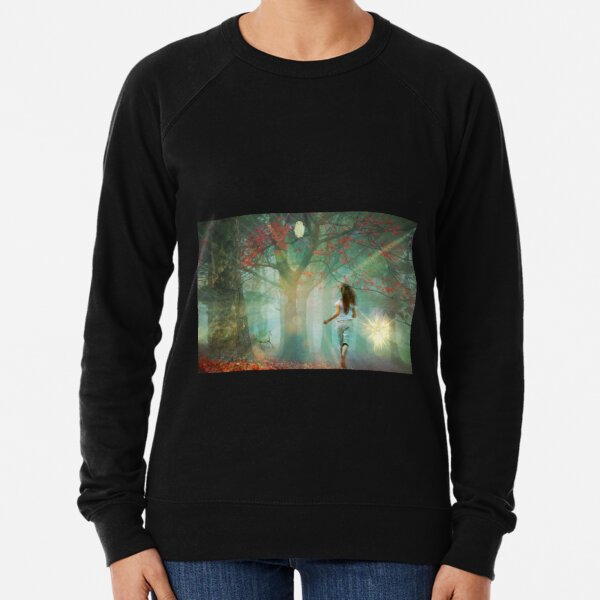 The Traveler and the Orb Forest Lightweight Sweatshirt
