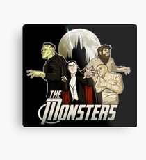 Monsters Assemble Metal Print