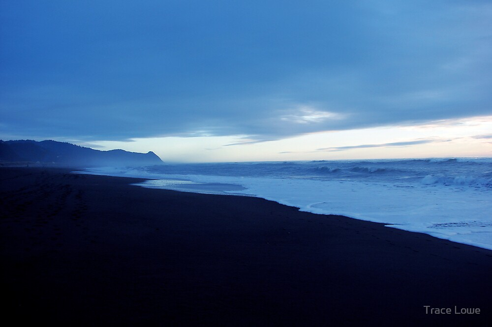 Gold Beach in Blue by Trace Lowe