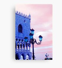 Venice lamps and architecture Canvas Print