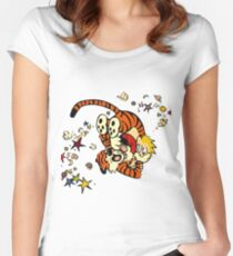 Horseplay - Calvin and Hobbes Women's Fitted Scoop T-Shirt