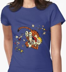 Horseplay - Calvin and Hobbes Womens Fitted T-Shirt