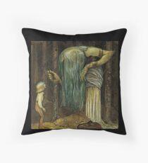 John Bauer's Scandinavian Fairies, Gnomes and Trolls Throw Pillow