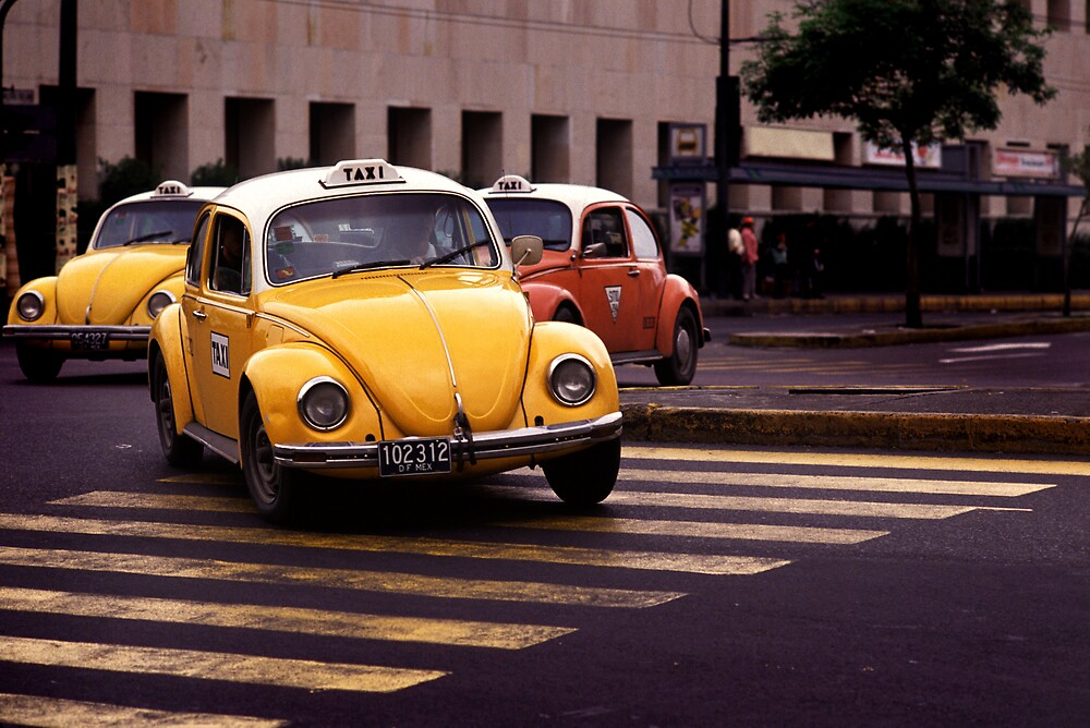 Taxis Mexico City by laurencedodd
