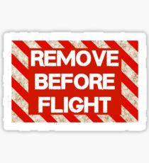 Pilot Remove Before Flight  Sticker