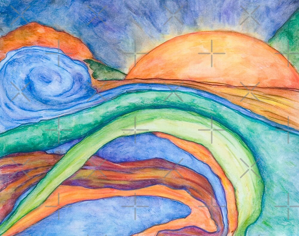 The Sunrise, Mixed Media by Danielle Scott