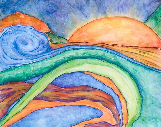 The Sunrise, Mixed Media by Danielle Scott