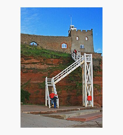 Jacob's Ladder, Sidmouth, Devon Photographic Print